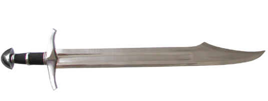 Medieval Falchion Sword Write yourself in. Fig...
